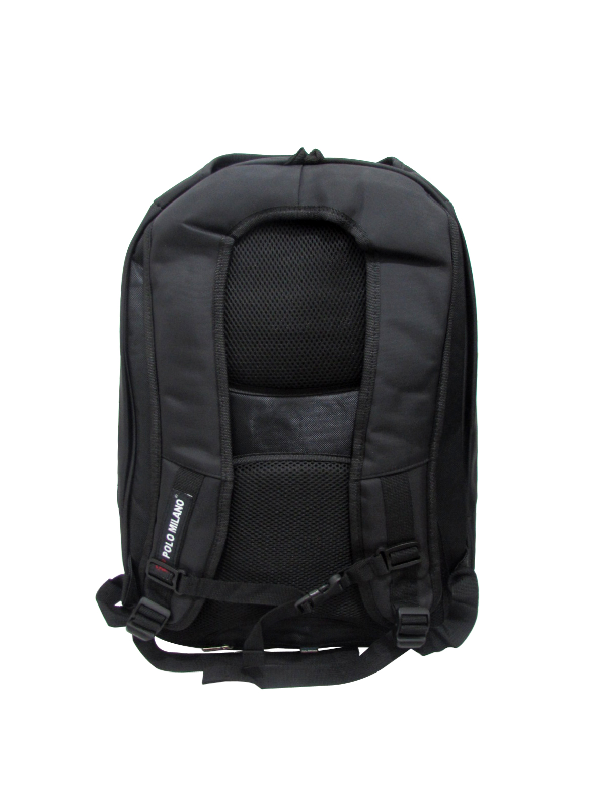 Polo Milano Backpack 88142 Black Expanding Free Rain Cover Ransel Laptop